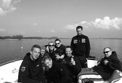 Vestparken fährt Boot
