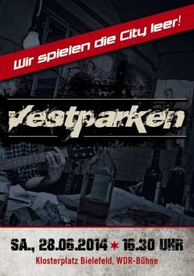 Konzertplakat zum NRW-Tag von Vestparken